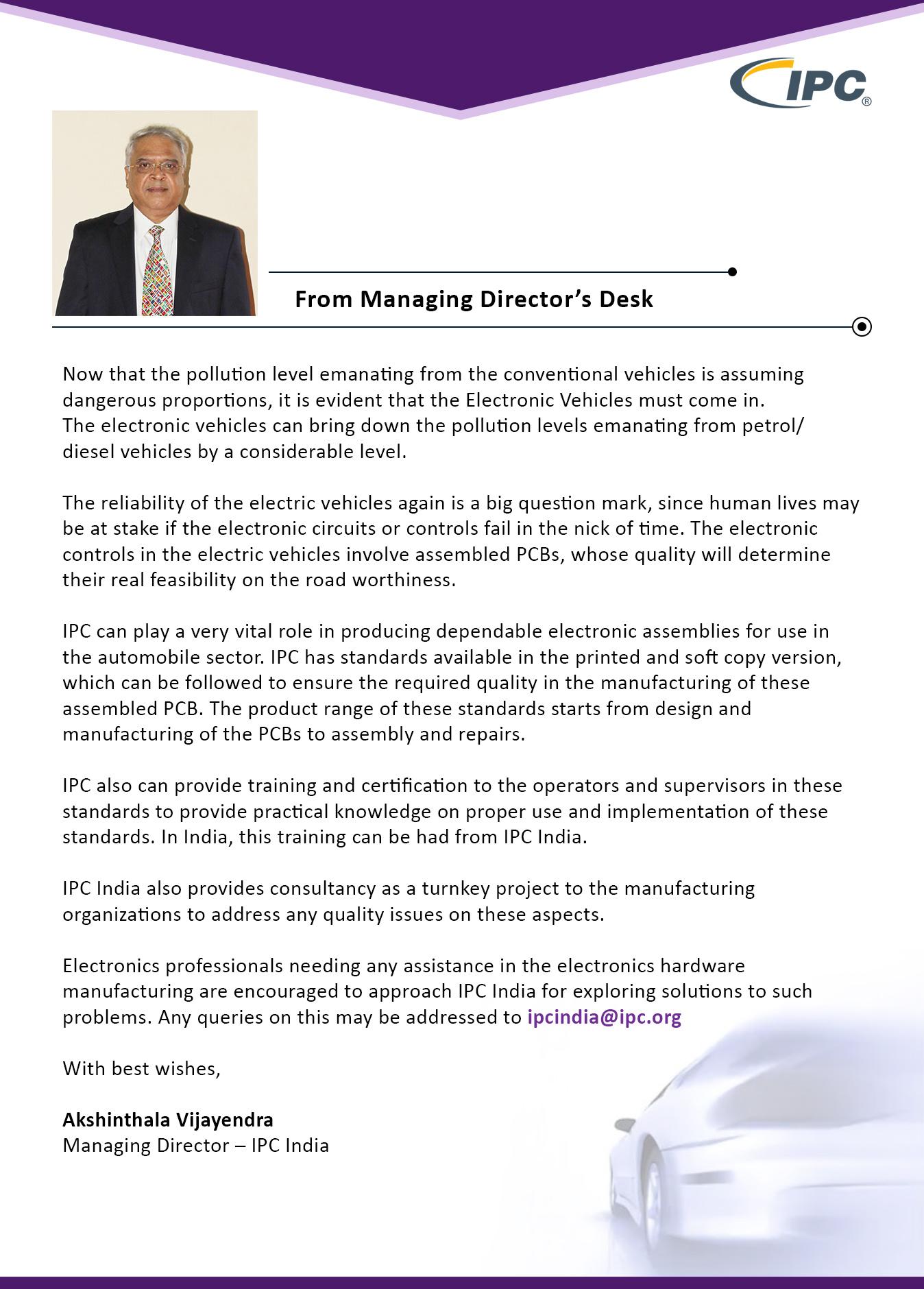 IPC India Newsletter January 2019